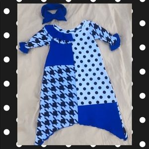 Royal blue toddler custom dress💙